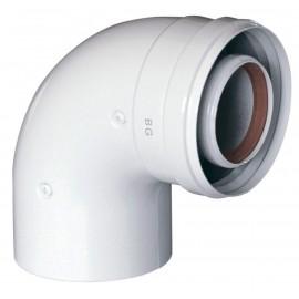 Коаксиальный отвод 90°, диам. 60/100 мм без муфты Baxi (KHG71410151)